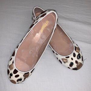Seychelles leather leopard print mouse ballet flat